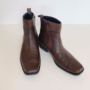 Rockport Brown Leather Ankle Boots 10M